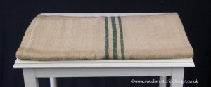 triple green stripe grain sack