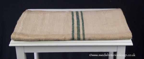 triple green stripe grain sack