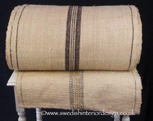 Aubergine stripe hemp linen roll