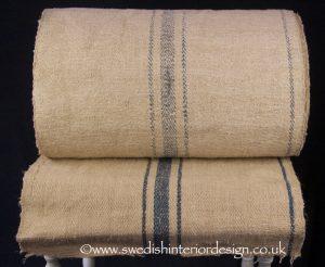 3 blue stripe hemp linen roll