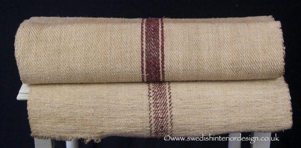 burgundy stripe hemp linen roll