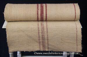 3 burgundy edge stripe hemp linen roll