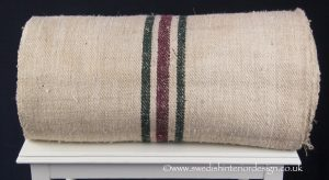 1 burgundy 2 green stripe hemp linen roll