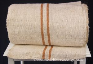 3 caramel stripe hemp linen roll