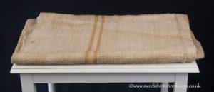 2 caramel stripe grain sack