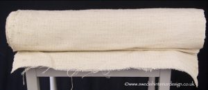 Fine weave plain natural hemp linen