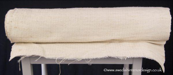 Fine weave plain natural hemp linen