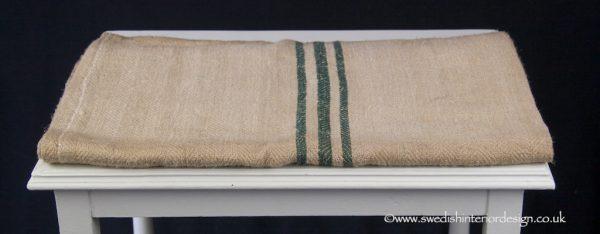 treble green stripe grain sack