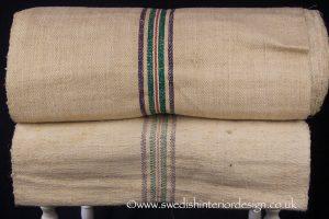 2 purple 2 green red antique hemp linen roll