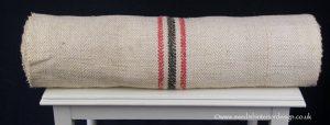 red black antique hemp linen roll