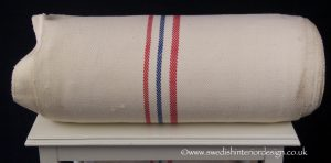 2 red 1 blue light antique hemp linen roll