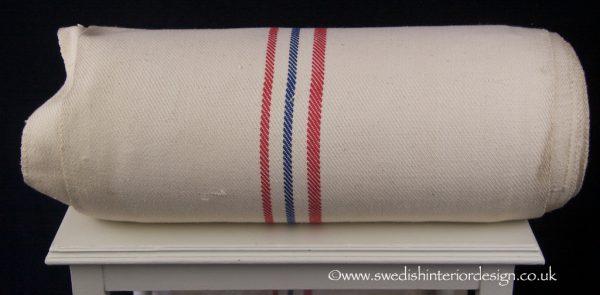2 red 1 blue light antique hemp linen roll