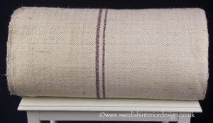 herringbone blue red stripe hemp linen roll