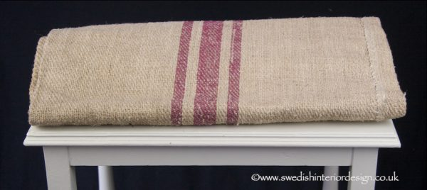 treble pink stripe grain sack