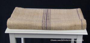 5 violet stripe grain sack