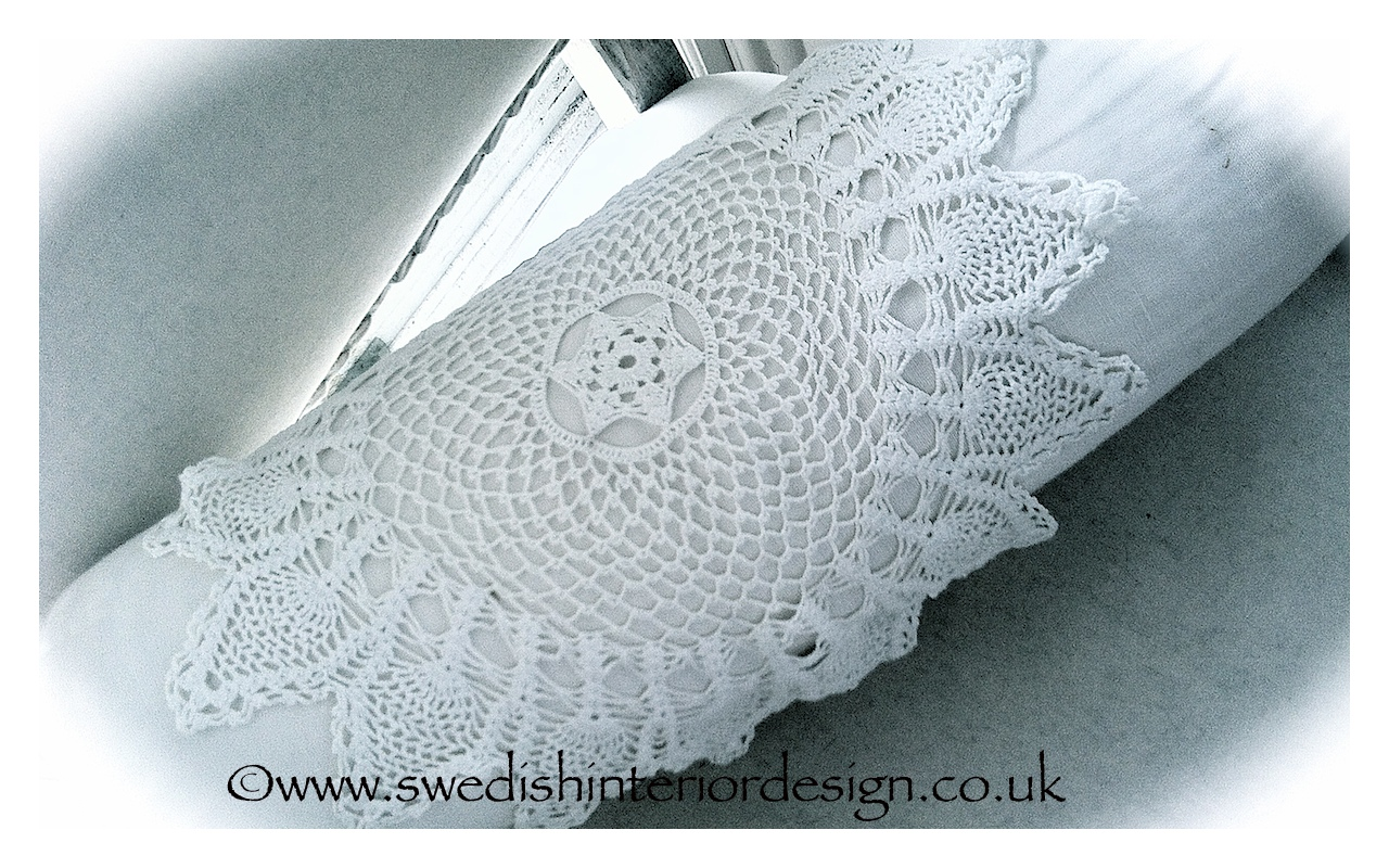 antique lace bolster