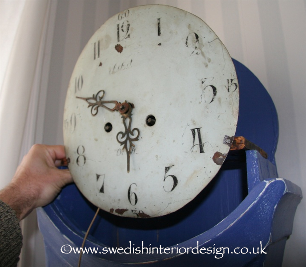 mora clock mechanism being fitted