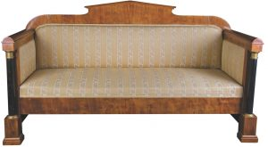 Golden Birch 1800s Biedermeier Sofa Ormulu Posts 2