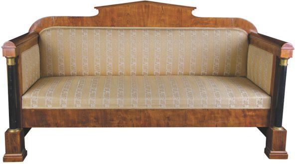 Golden Birch 1800s Biedermeier Sofa Ormulu Posts 2
