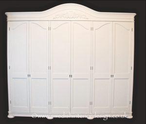 Handmade Bespoke 6 Door Gustavian Mirror Front Armoire
