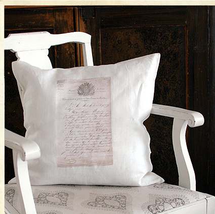 handprinting transfers on cushions