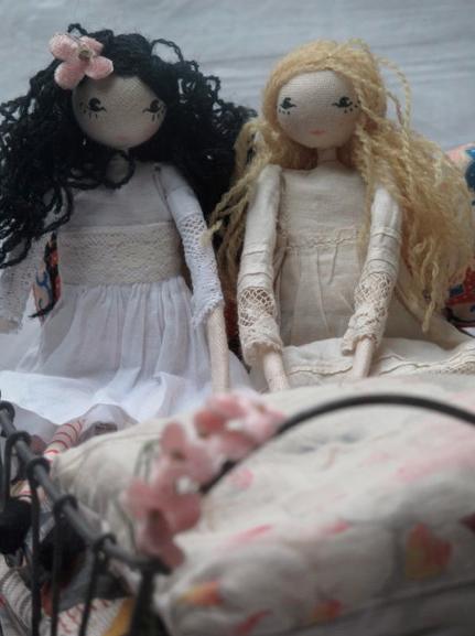 2 dolls by sarah strachen