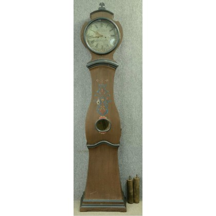 223cm antique swedish mora clock