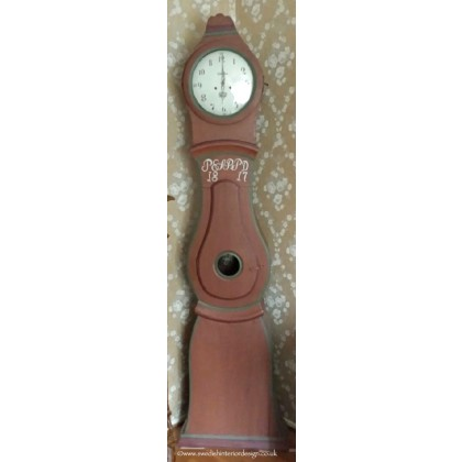 225cm antique red mora clock