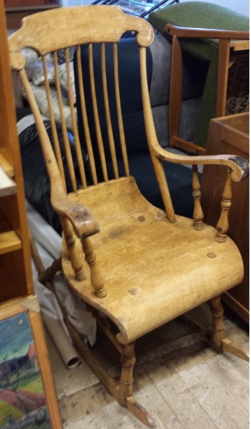 natural antique rocking chair