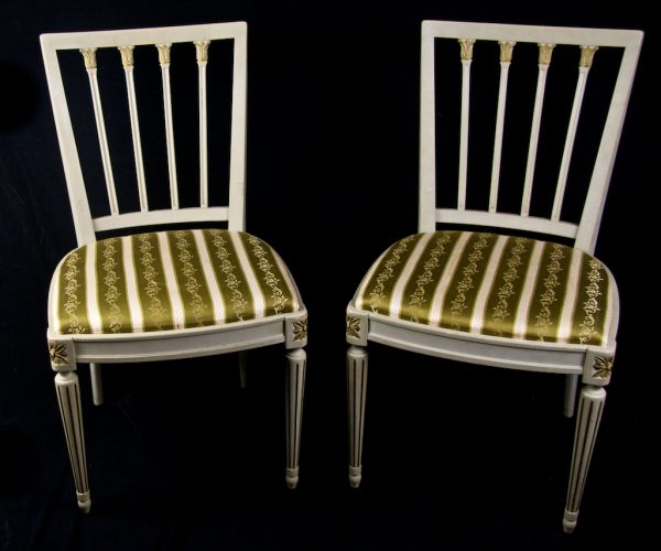 gold detail leksand chairs