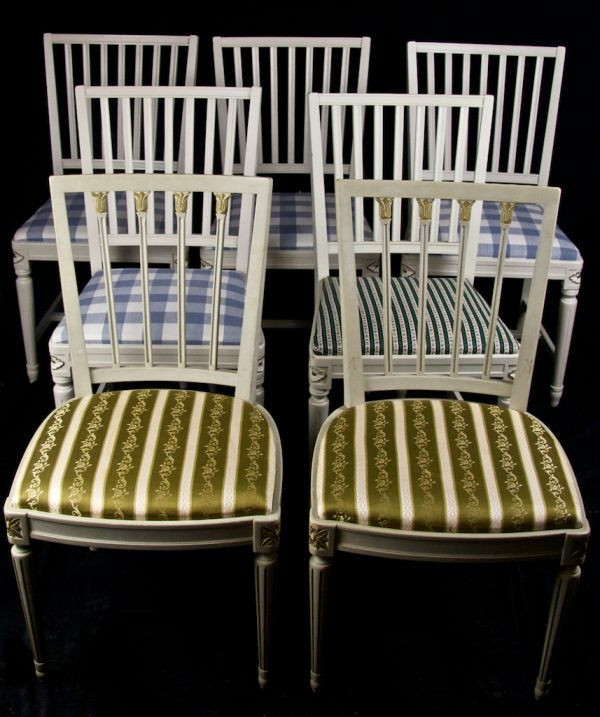 CH22 7 Leksand Dining Chairs