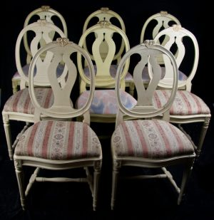 CH52 8 Gustavian Roundback Chairs