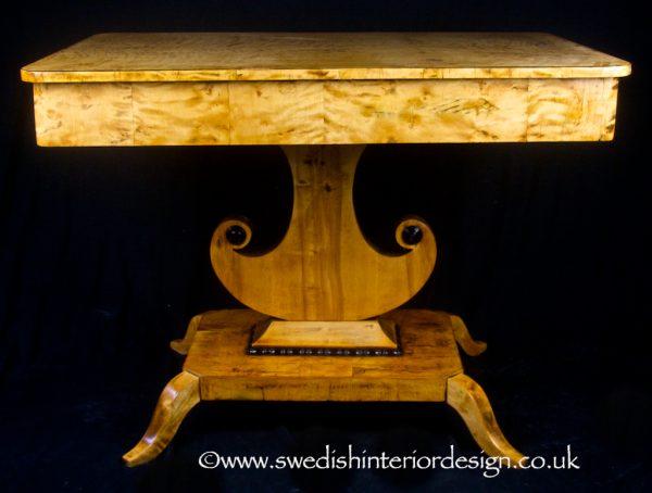 1800s Swedish Biedermeier Horn Table