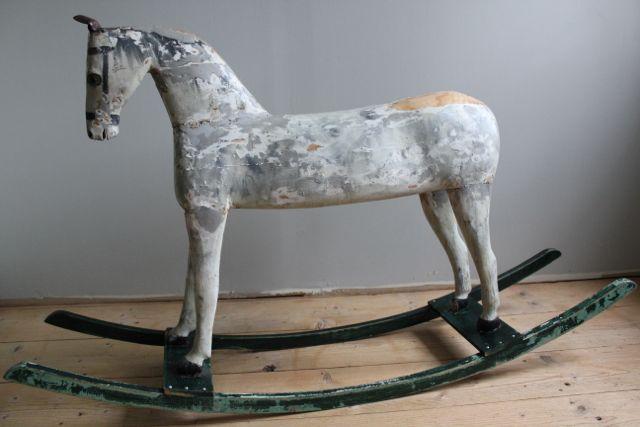 antique swedish gemal rocking horse