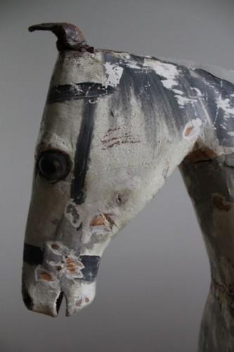 antique swedish gemal rocking horse head