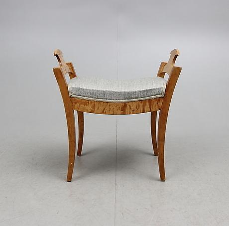 antique biedermeier footstool