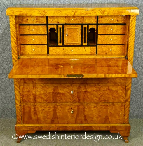 Antique Swedish Biedermeier chiffonier writing desk