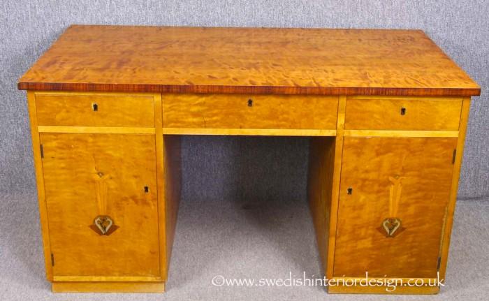 swedish antique art deco desk