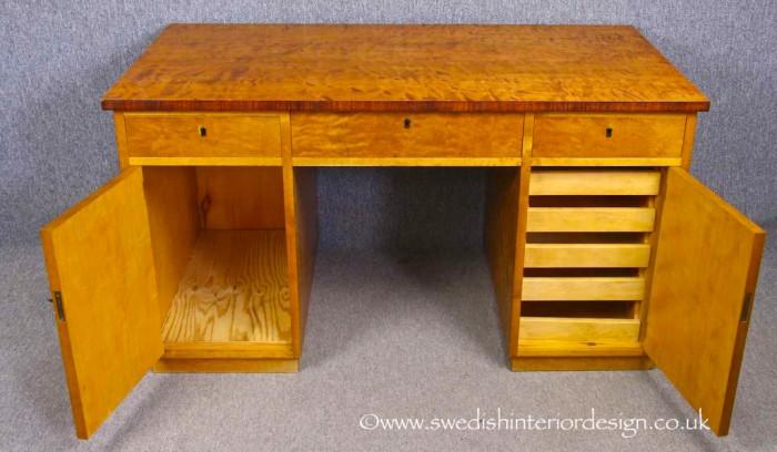 swedish antique art deco desk inside