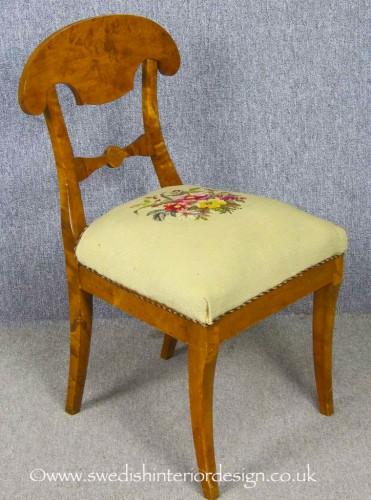 biedermeier carver chair roundel motif