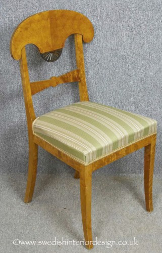 biedermeier dining chair fan motif