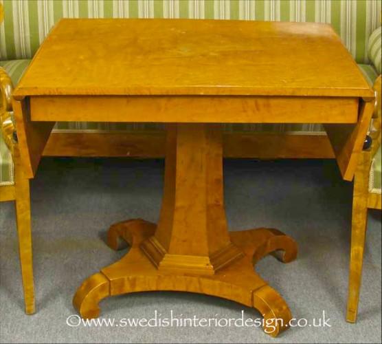 antique biedermeier drop leaf table 3