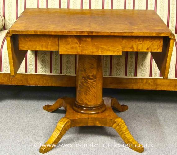 antique biedermeier drop leaf table 2