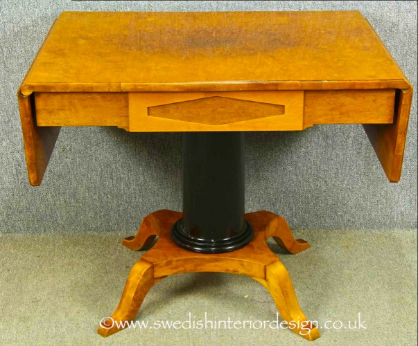 antique biedermeier dropleaf table 1