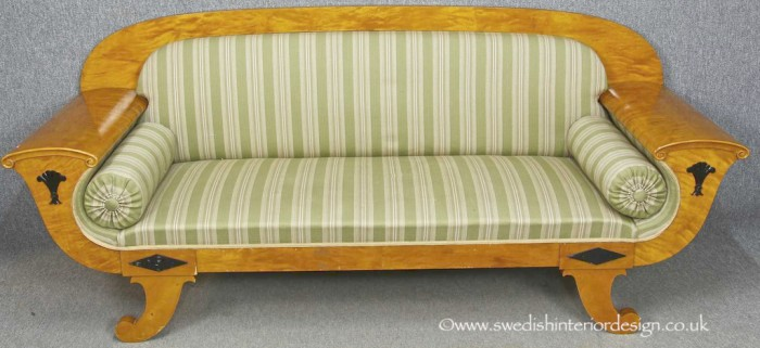 antique swedish biedermeier sofa 1
