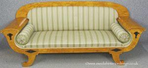 SF33 Biedermeier Flame Birch Sofa