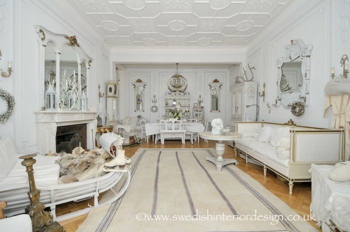 swedish interior design gustavianliving room