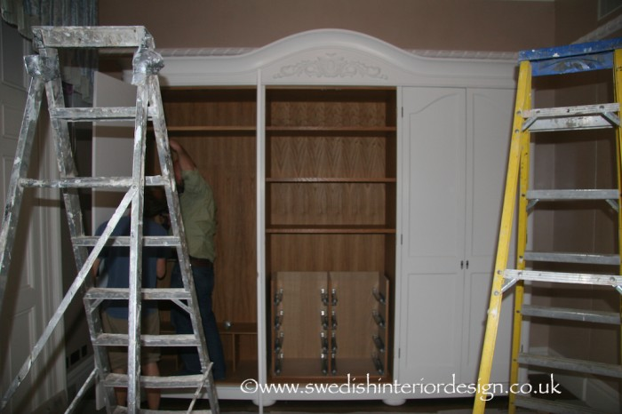 assembly of gustavian armoire