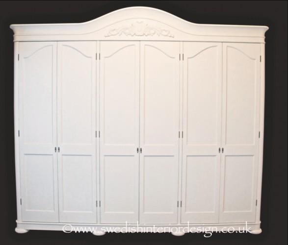 bespoke handmade gustavian armoire