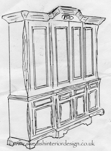 LARGE ARMOIRE BESPOKE DRAWING